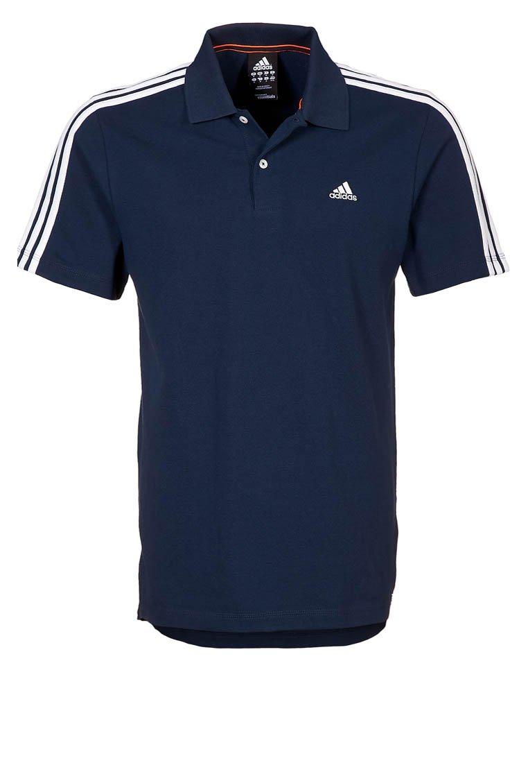 adidas Performance ESS 3S - Polo shirt - blue - Zalando.co.uk