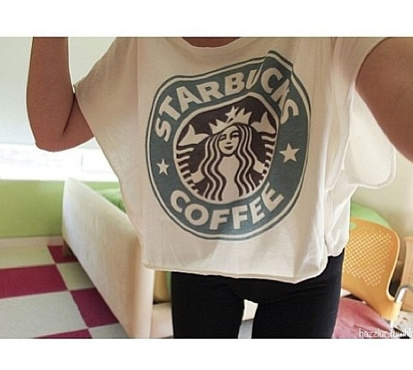 t-shirt starbucks coffee