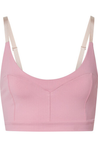 bra sports bra baby pink baby pink underwear