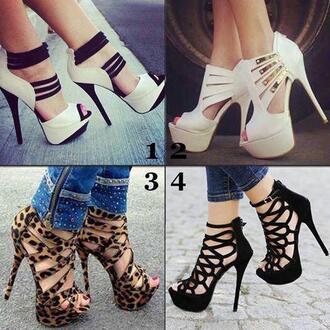 high heels wedges leopard print high heels