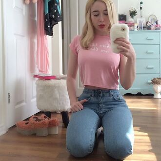 pants shirt cute tumblr pink blue
