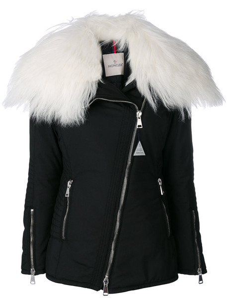 moncler jacket fur women black