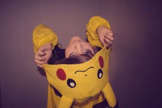 sweater funny cute adore love yellow yellow top lovely disney animation pikachu