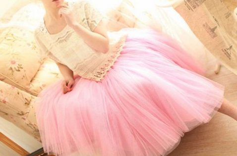 Tulle puffy Skirt
