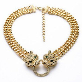 jewels chain necklace tiger gold chain