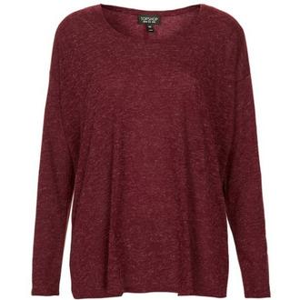 shirt burgundy topshop long sleeve shirt