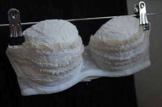 underwear bra preen ruffle lace white lingerie
