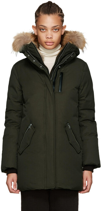 parka green coat