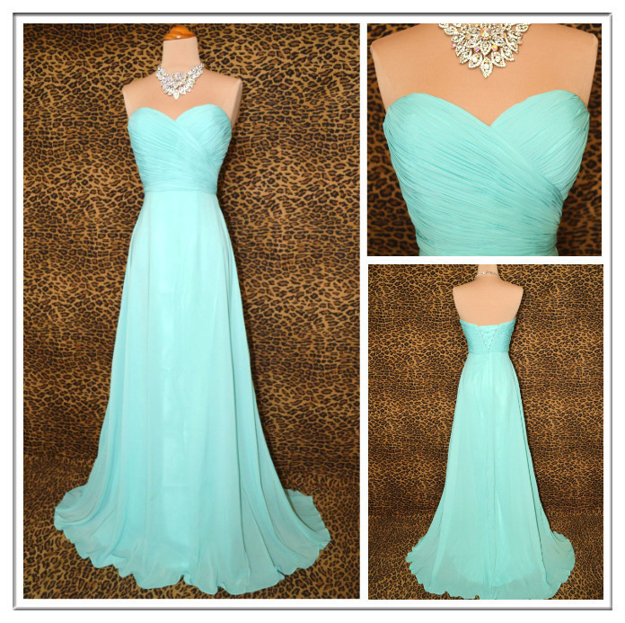 Beautiful aqua grace timeless glamour prom dress