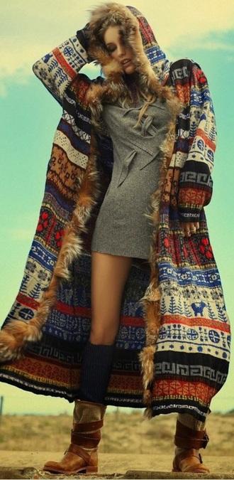 coat boho hippie