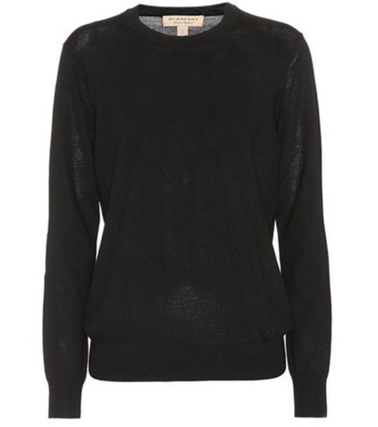 Burberry sweater crewneck sweater wool black