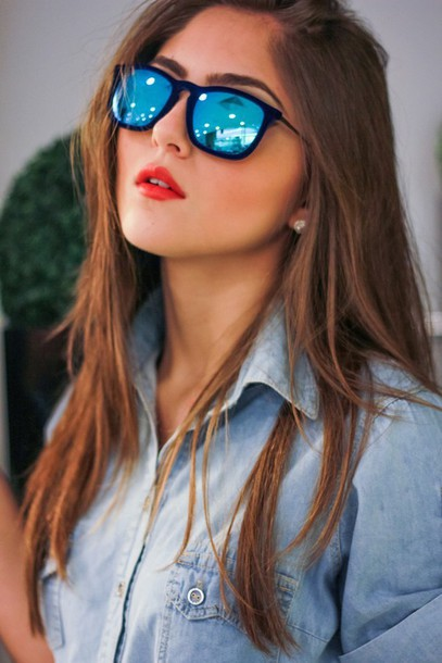 sunglasses velvet blue