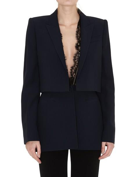 Alexander Mcqueen jacket lace blue