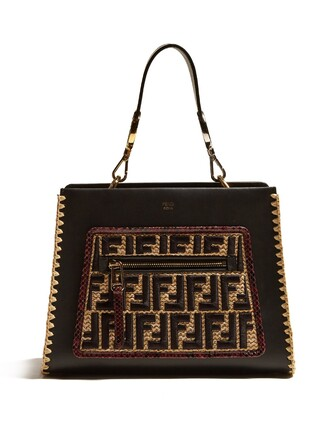 embroidered bag leather bag leather black