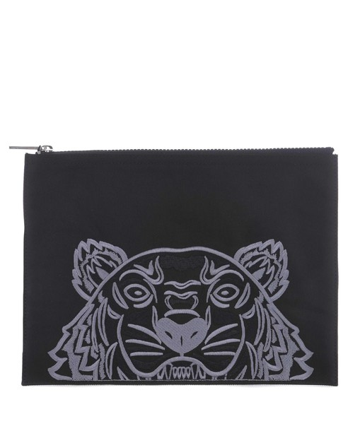 embroidered tiger clutch bag