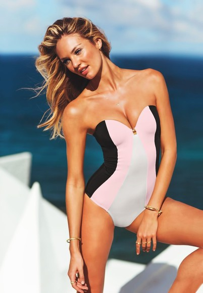 swimwear multicolor one peice victoria's secret
