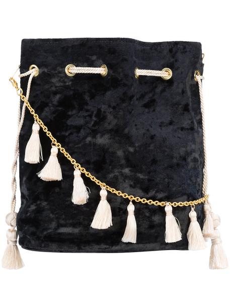 KAYU tassel women drawstring bag black