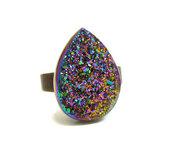 ring,colorful,teardrop,jewels