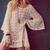 Hot Vintage Hippie Boho Bell Sleves Gypsy Festival Fringe Lace Mini Dress Tops | eBay