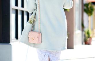 hallie daily blogger top coat skirt bag sunglasses shoes jewels