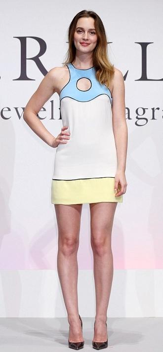 dress short dress mini dress leighton meester gossip girl blair waldorf