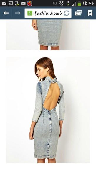 denim dress strapless