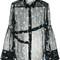 3.1 phillip lim - floral embroidered sheer shirt - women - silk - 2, black, silk