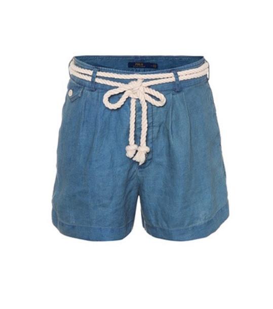 Polo Ralph Lauren Chambray linen shorts in blue