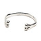 Black scale – bone bracelet silver