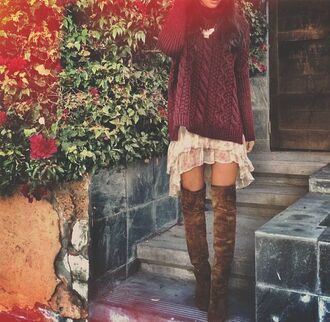 sweater burgundy pullover wool dress red sweater