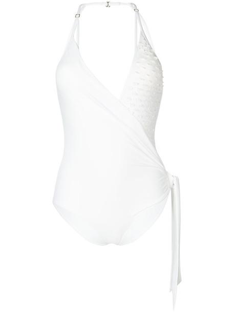 LA PERLA women spandex white swimwear
