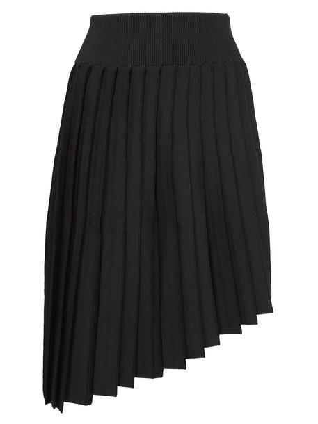 skirt knitted skirt pleated high