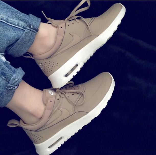 shoes, nike, nike shoes, nike air force 1, beige, sneakers