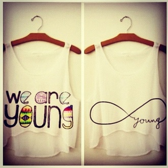 tank top forever young summer infinite crop tops hipster