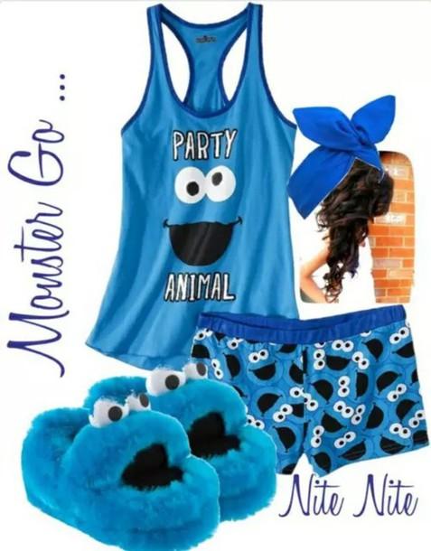 pajamas cookie monster