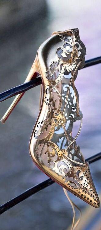 shoes louboutin silver designer