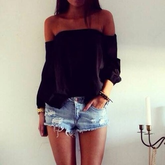 blouse black blouse shirt balck