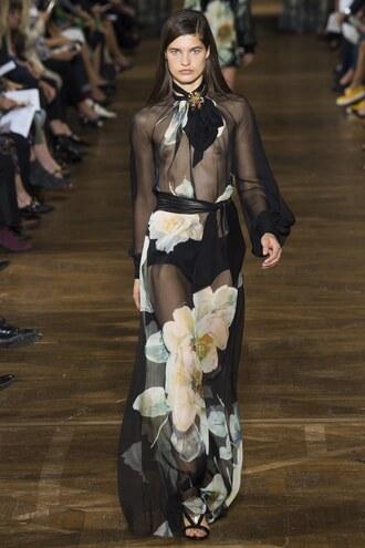dress see through gown wedding dress bow runway lanvin paris fashion week 2016 see through dress