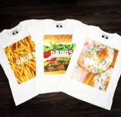 t-shirt,batoko,www.batoko.com,fast food,fries,donut,hamburger