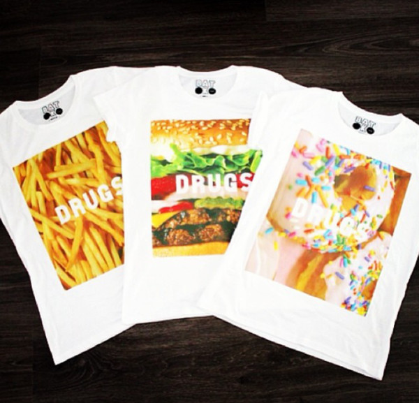 t-shirt batoko www.batoko.com fast food fries donut hamburger