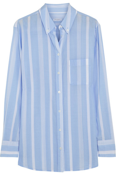 Equipment | Margaux striped cotton shirt | NET-A-PORTER.COM