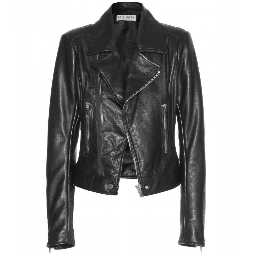 Leather biker jacket ¦ balenciaga ☆ mytheresa.com