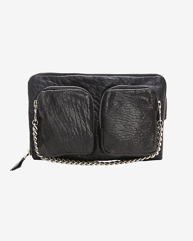 Exclusive for intermix zipper detail leather fanny pack at intermix