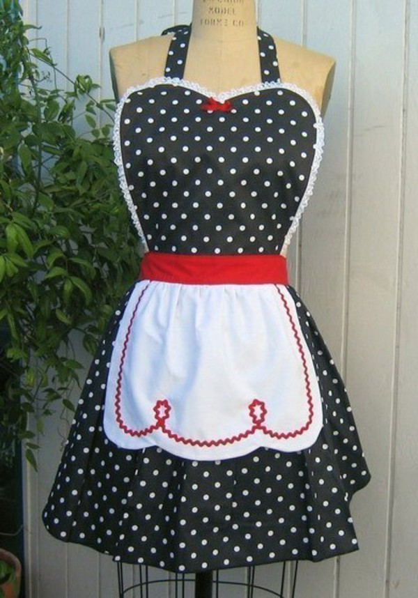 50s dress 50s style polka dots vintage retro house housewife housewares