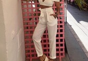 pants,pantalla,pantalon,white,girl,high waisted,style,blanco,joggers,high waisted jeans,white pants