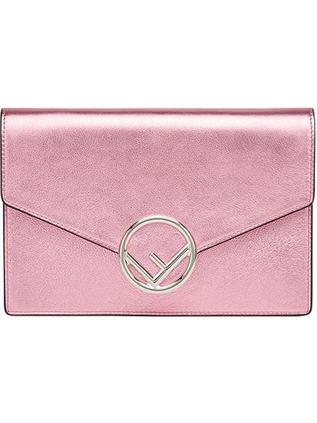 Fendi mini women bag mini bag leather cotton purple pink