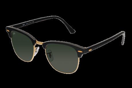lunette soleil ray ban  lunettes de soleil ray ban clubmaster 3016 w0365 g 15xlt noir / doré ray ban lunettes de soleil sensee
