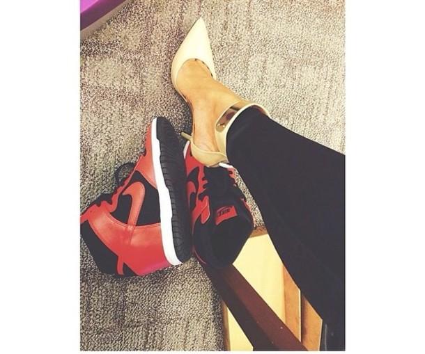 shoes high heels high top sneakers