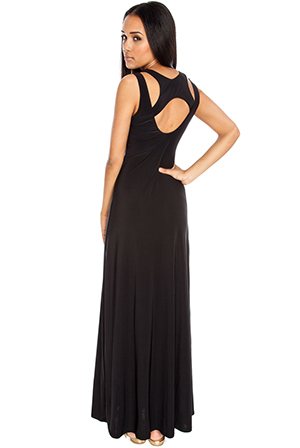 Cut Out Detail Muscle Back Maxi