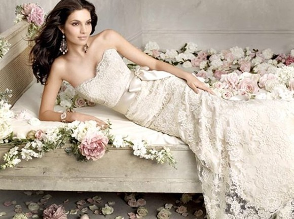 dress beautiful wedding dress lace dress mermaid wedding dresses